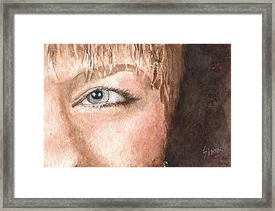 The Eyes Have It - Shelly Framed Print