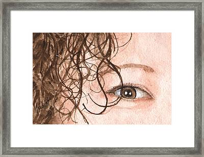 The Eyes Have It - Stacia Framed Print