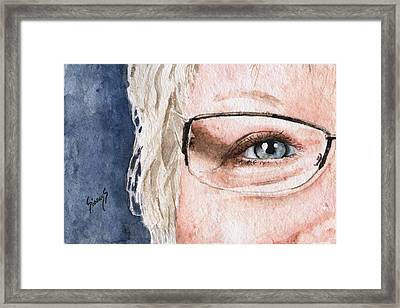The Eyes Have It - Vickie Framed Print