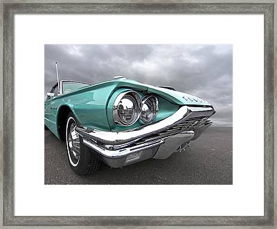 Framed Print featuring the photograph The Eyes Have It - 1964 Thunderbird by Gill Billington