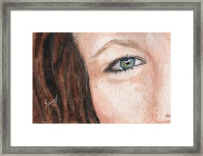 The Eyes Have It-jenifer Framed Print by Sam Sidders