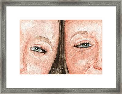 The Eyes Have It- K And K Framed Print by Sam Sidders