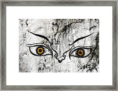 The Eyes Of Guru Rimpoche  Framed Print