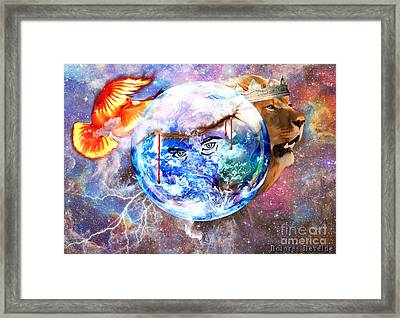 The Eyes Of Love Framed Print by Dolores Develde