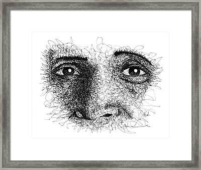 The Eyes Of Ramana Framed Print