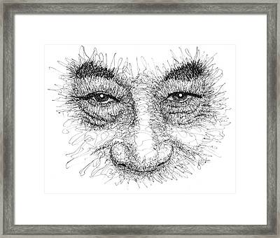 The Eyes Of The Dalai Lama Framed Print