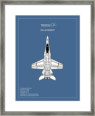 The F-18 Hornet Framed Print by Mark Rogan