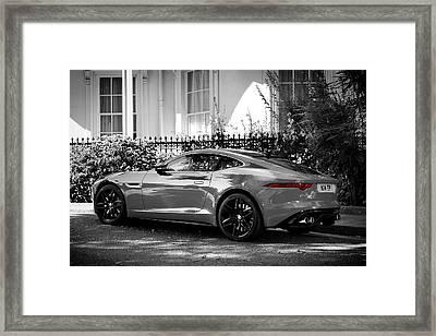 The F-type Jaguar Framed Print by Mark Rogan