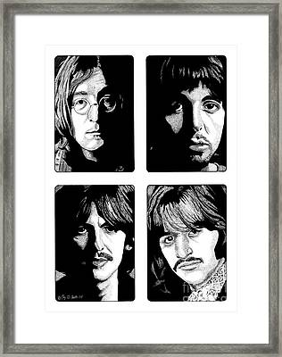 The Fab Four Framed Print