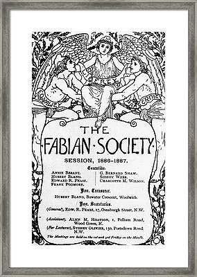 The Fabian Society Report Framed Print