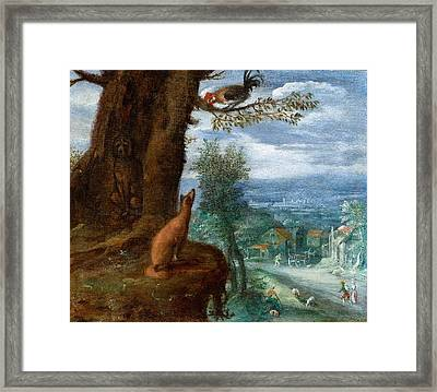 The Fable Of The Fox Framed Print by MotionAge Designs