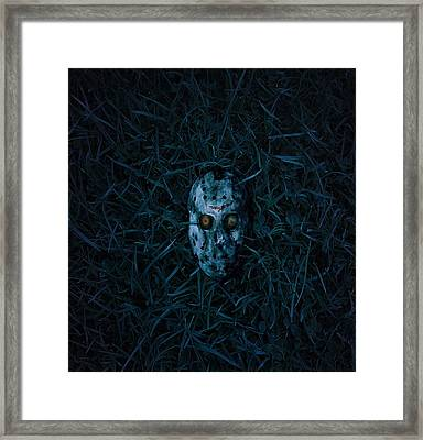 The Face Behind The Mask Framed Print