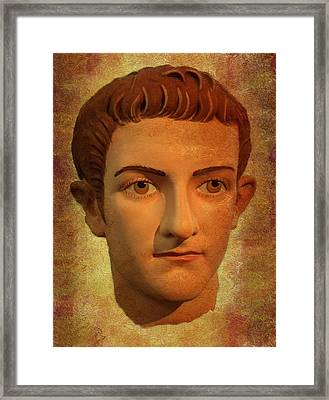 The Face Of Caligula Framed Print