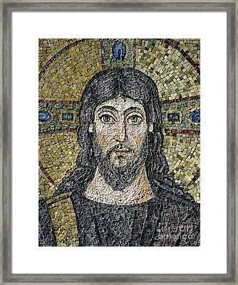 The Face Of Christ Framed Print