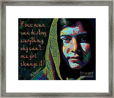 The Face Of Courage Framed Print