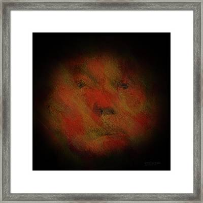 The Face Of Insanity Framed Print by Diane Parnell