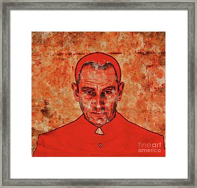 The Face Of Mother Church By Mary Bassett Framed Print