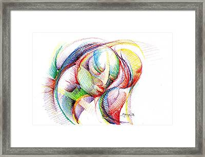 The Face Of Peace Framed Print