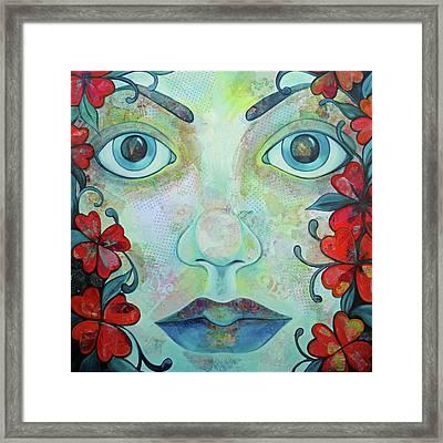 The Face Of Persephone I Framed Print