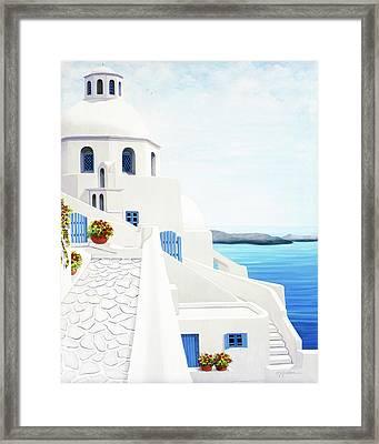 The Face Of Santorini Framed Print