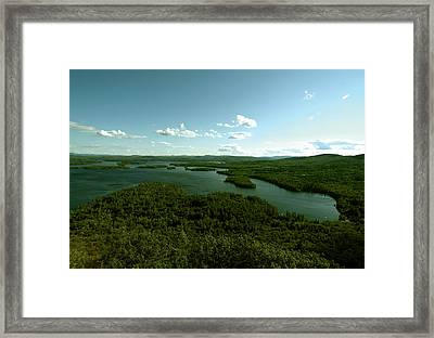 The Face Of Squam Framed Print