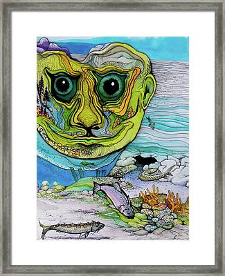 The Face Of Summer Lost Framed Print