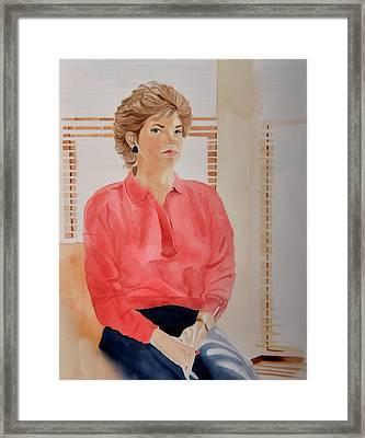 The Face Series - Pamela Framed Print