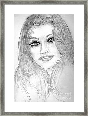 The Face Framed Print by Sonya Chalmers