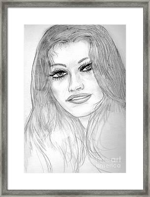 The Face Framed Print