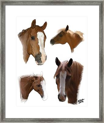 The Faces Of T Framed Print by Elzire S
