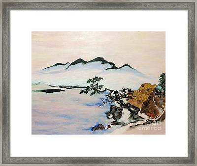 The Fading Spirit Of Chikanobu Awakened By Shintoism Framed Print by Sawako Utsumi