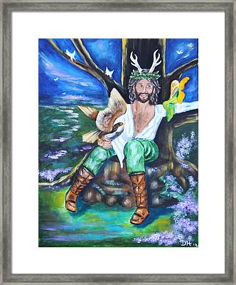 The Faery King Framed Print