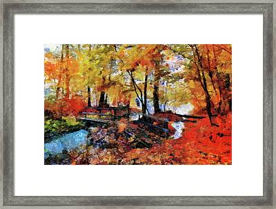 The Failing Colors Of Autumn Framed Print