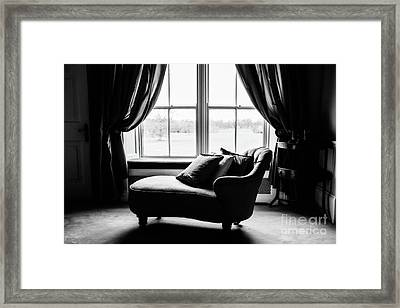 The Fainting Couch - Bw Framed Print