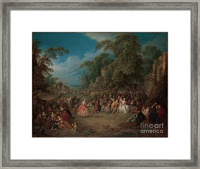 The Fair At Bezons Framed Print by Celestial Images