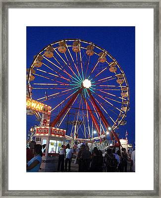 The Fair At Night Framed Print by Beth Akerman
