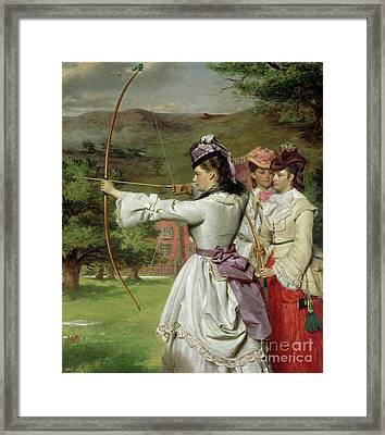 The Fair Toxophilites Framed Print by William Powell Frith