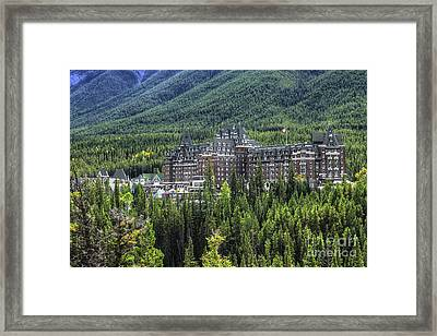 The Fairmont Banff Springs Framed Print by Wayne Moran