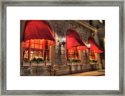 Framed Print featuring the photograph The Fairmont Copley Plaza Hotel - Boston by Joann Vitali