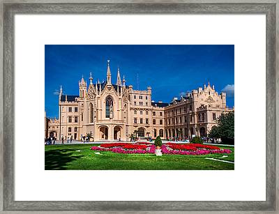 The Fairy Castle. Czech Lednice Framed Print