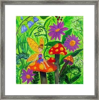 The Fairy Garden - Childrens Art Framed Print