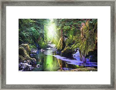 The Fairy Glen Gorge River Conwy Framed Print