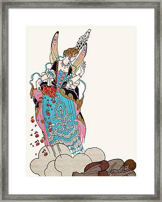 The Fairy Godmother Framed Print by Georges Barbier