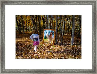 The Fairy In The Mirror Framed Print