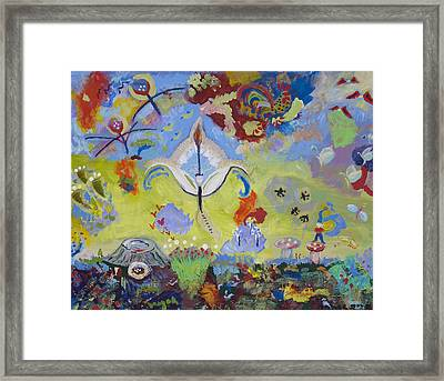 Framed Print featuring the painting The Fairy Queen by Angela Annas