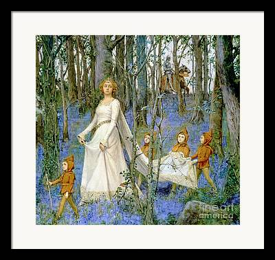 Woodlands Scene Framed Prints