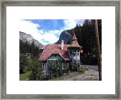 The Fairy Tale House  Framed Print