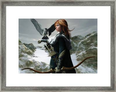 The Falconer Framed Print by Melissa Krauss