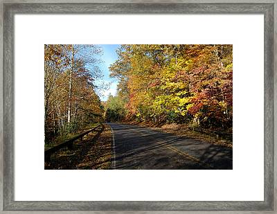The Fall Drive Framed Print