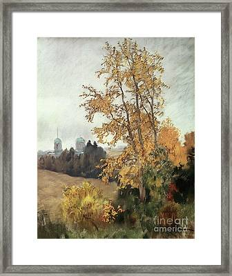 The Fall Framed Print by Isaak Ilyich Levitan